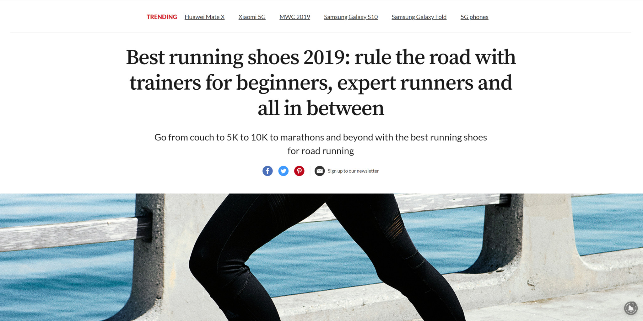Blogging for running shoes